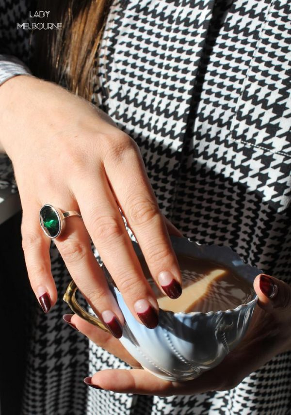 After Midnight Slim Ring by Black Matter as worn by Lady Melbourne