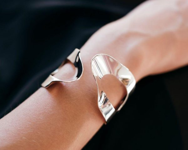 Model wearing the Mirage Cuff by Black Matter