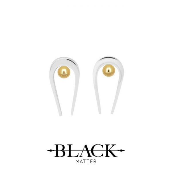 Small Stud Earrings from the Penumbra Collection by Black Matter