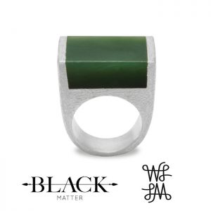 Local Palette Pounamu Ring by Black Matter