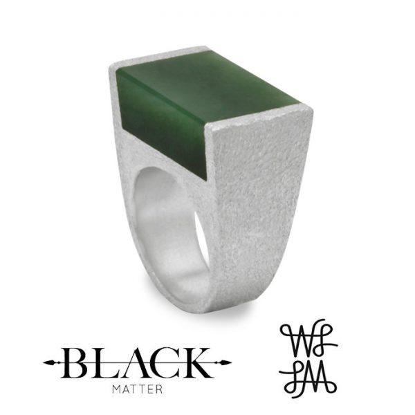 Local Palette Pounamu Ring by Black Matter Jewellery