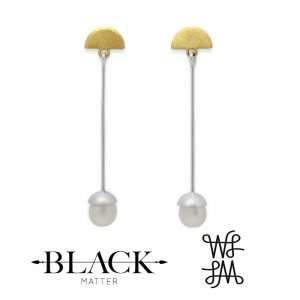 Local Palette Swing Pearl Stud Earrings by Black Matter Jewellery