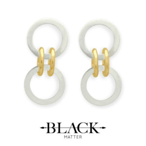 Forte Dual Gold-Link Earrings by Black Matter Jewellery
