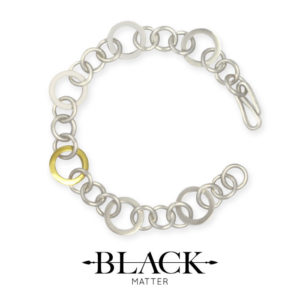 The Round Gold-Link Bracelet from the Forte Collection by Black Matter