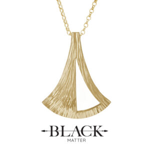 The Emergence Large Gold Pendant by Black Matter Jewellery