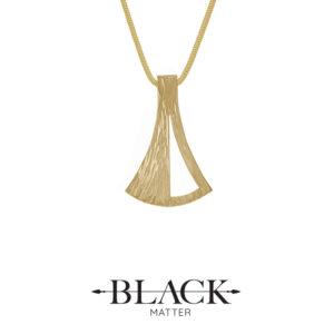 The Emergence Medium Gold Pendant by Black Matter Jewellery