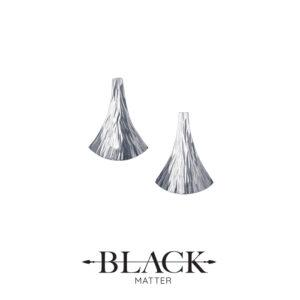 The Emergence Silver Stud Earrings by Black Matter Jewellery