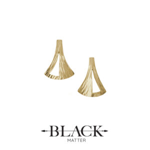 The Emergence Gold Stud Earrings by Black Matter Jewellery