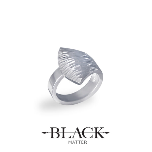 The Emergence Silver Ring by Black Matter Jewellery